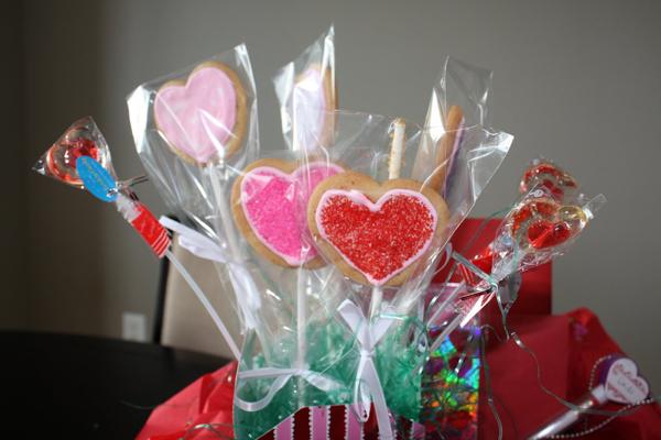 Heart Shaped Cookie Pop bouquet.