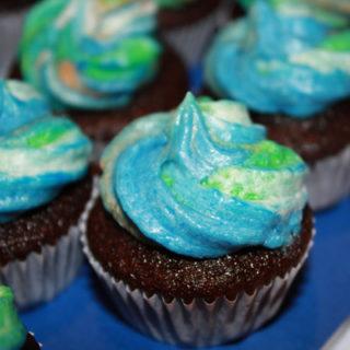 earth day cupcake