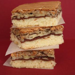 Nutella Shortbread Bars with Frangipane