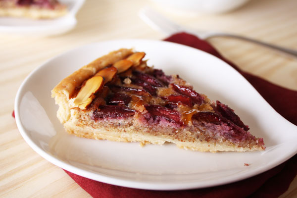 cherry tart slice