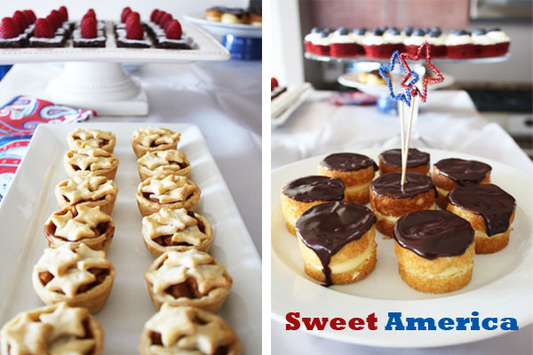 July 4th All American Dessert Buffet