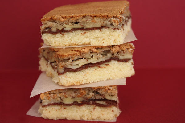 nutella shortbread bar