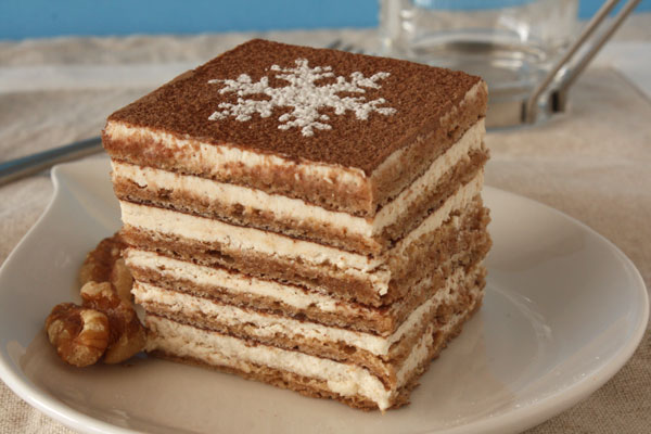 "Post image for Cinnamon Walnut Layered Torte – My ""Not Tiramisu"""
