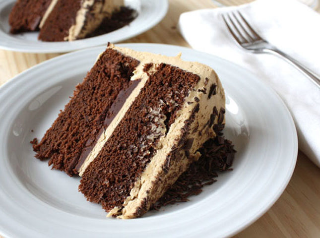 Chocolate Stout Cake with Coffee Buttercream