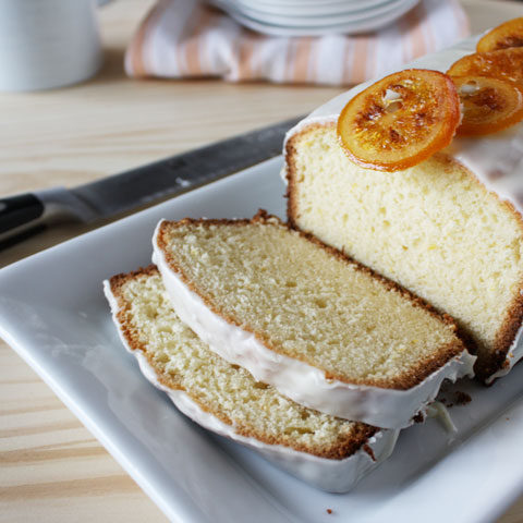 Meyer lemon pound cake- Subtle hints of lemon and is not overly sweet. The white chocolate glaze gives it just the right amount of sweetness.