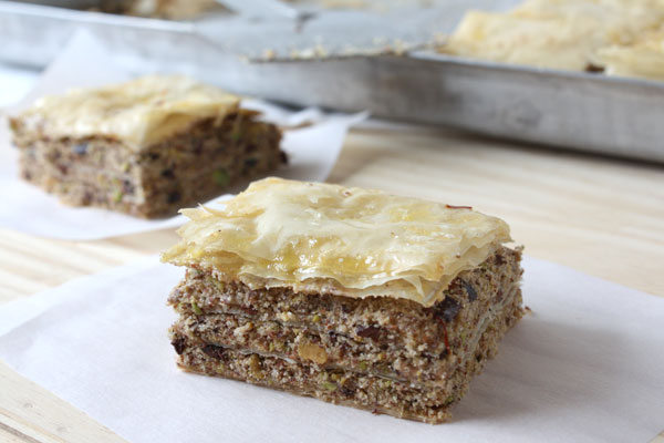 Baklava with Cocoa Nibs