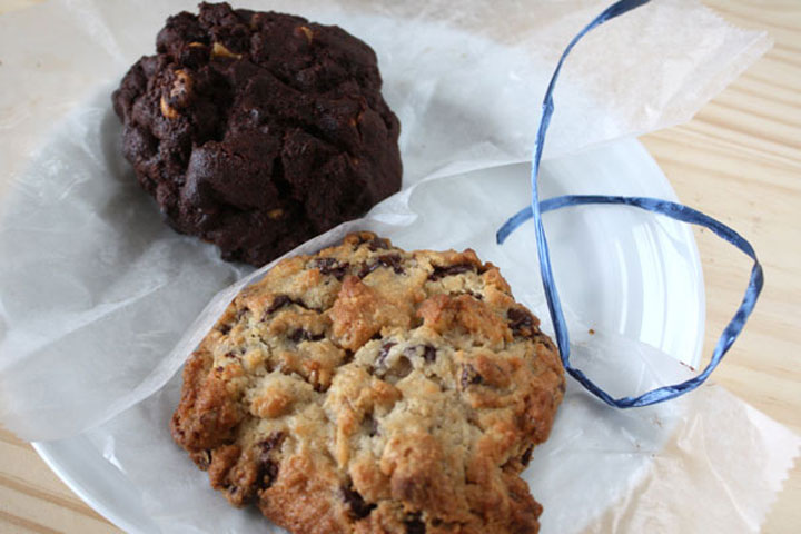 Cookies from Levain Bakery.