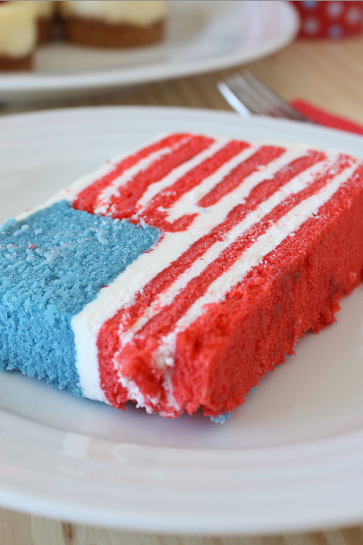 Celebrate the States this fourth of July with a states themed dessert buffet. Read on for the best 4th of July dessert ideas plus a surprise flag cake for Uncle Sam's Birthday.