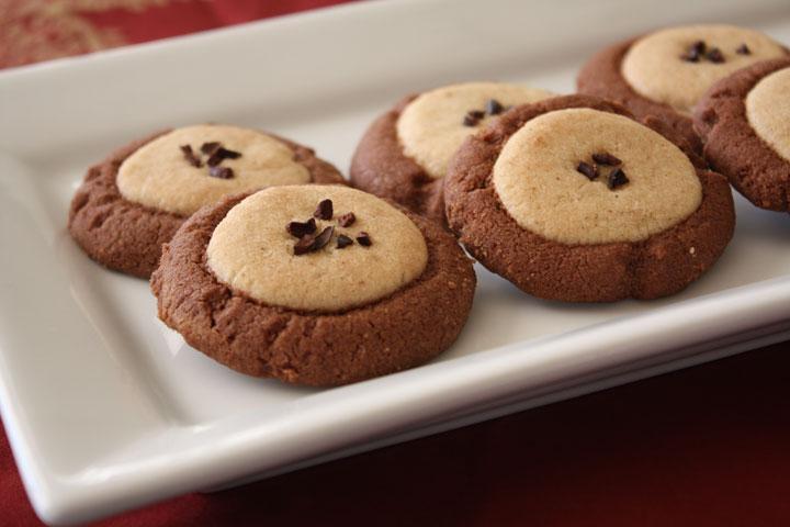 Plate of mixed dough chocolate nankhatai