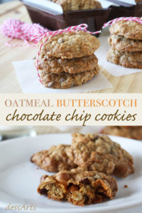 These oatmeal butterscotch cookies are a twist from the traditional recipe. We've added chocolate chips and substituted half the flour for whole wheat flour. The result is just fantastic. See for yourself and try the recipe!