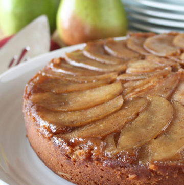 Spiced Upside Down Pear Cake