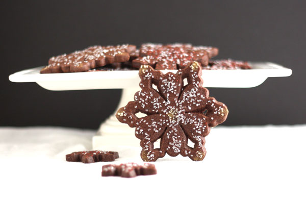 Post image for Chocolate Peppermint Snowflake Cookies