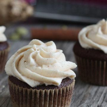 Chocolate Chai Spice Cupcake