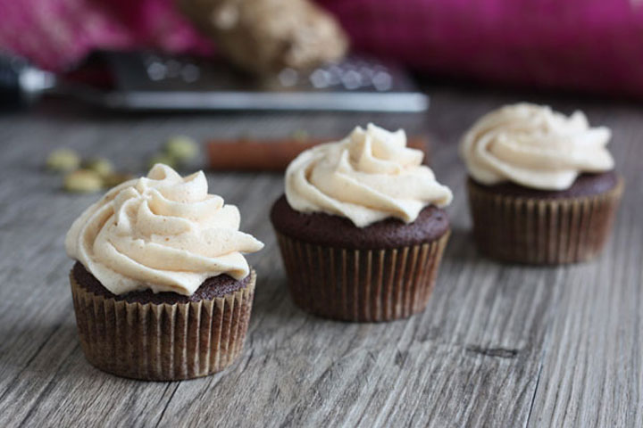 Chocolate Chai Spice Mini Cupcake