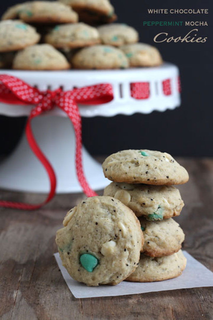 White Chocolate Peppermint Mocha Cookie