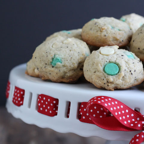White Chocolate Peppermint Mocha Cookies