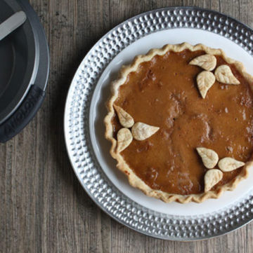 Caramel Walnut Pumpkin pie