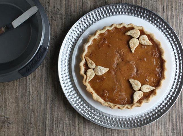 Caramel Walnut Pumpkin pie