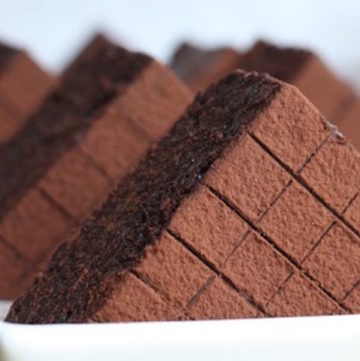 perfectly cut brownies