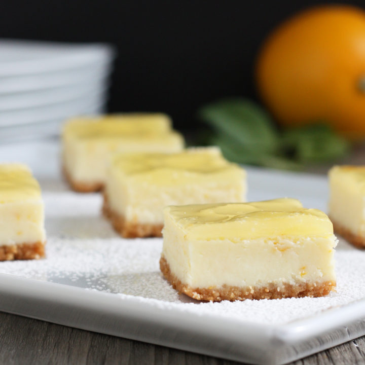 Meyer Lemon Cheesecake Bars