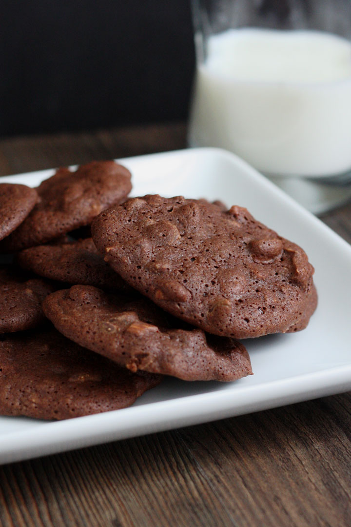 Flourless Mocha Almond Fudge Cookies. These cookies are a coffee and chocolate lovers delight! They are gluten free too!