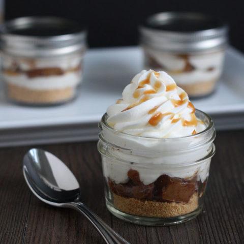 Apple Pie Cheesecake Jars