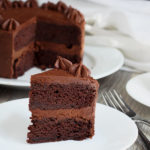 The Best Chocolate Cake- This is my favorite chocolate cake recipe and chocolate fudge frosting. You will not regret this!