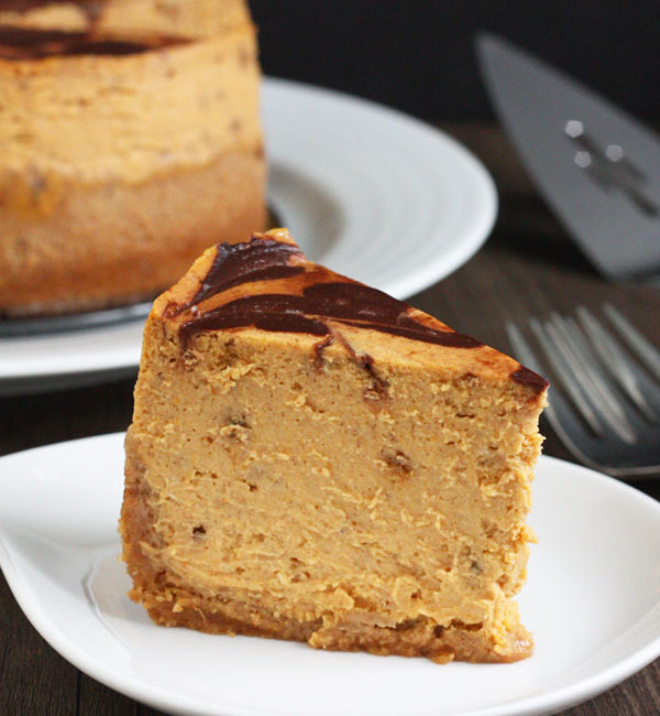 This pumpkin cheesecake is bursting with flavor. Its small size makes it the perfect end to a small family dinner. Plus, it's made with an Instant Pot!