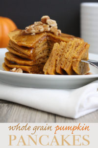 These whole grain pumpkin spice pancakes are packed with flavor and easy to make. Give your everyday pancakes the perfect twist for the fall season.