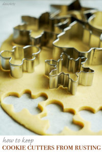 Keep cookie cutters from rusting by following this simple tip. Your holiday baking cleanup will be a breeze too!