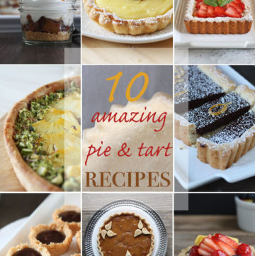 Collage of pies and tarts