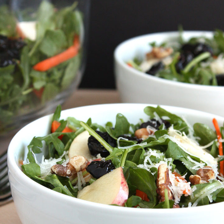 Fall Arugula and Apple Salad
