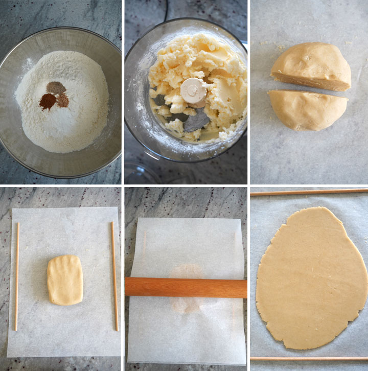 Process steps for making the best rolled sugar cookie dough.