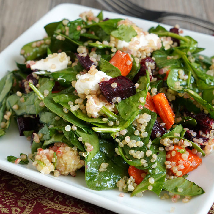 Roasted Beet and Carrot Quinoa Salad