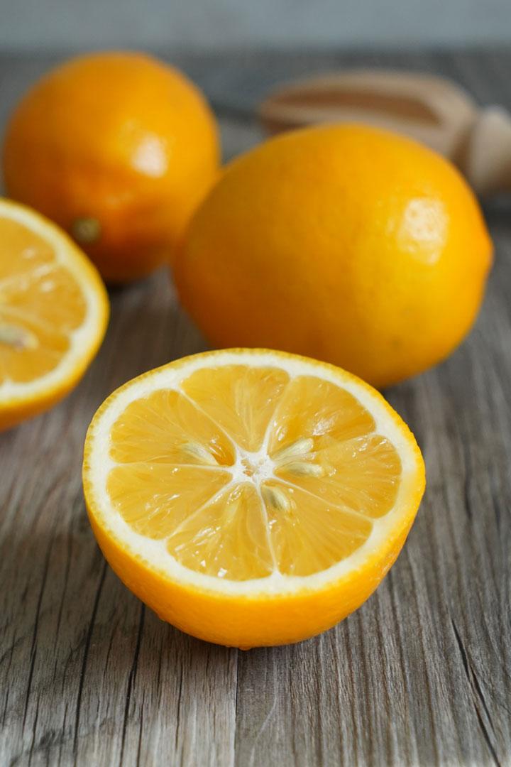 Meyer lemon half.