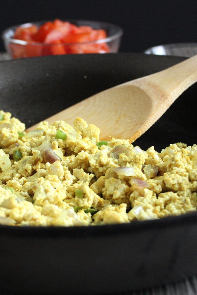 Tofu Scramble in pan.