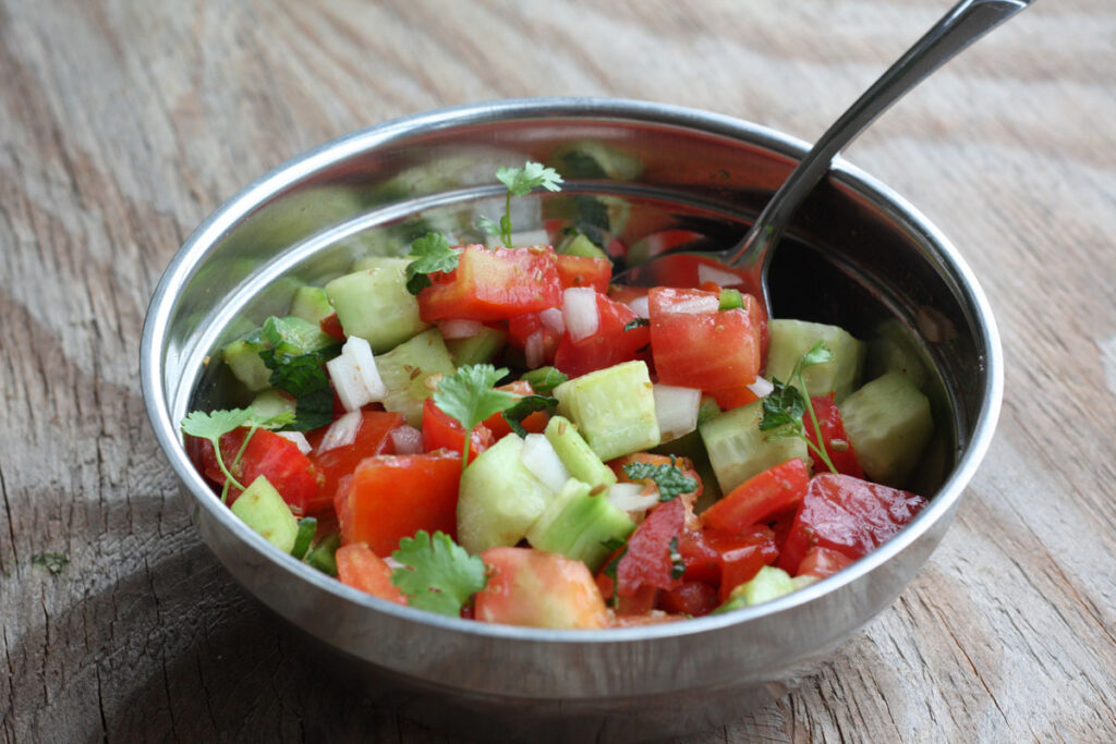 Mixed salad in a bowl.